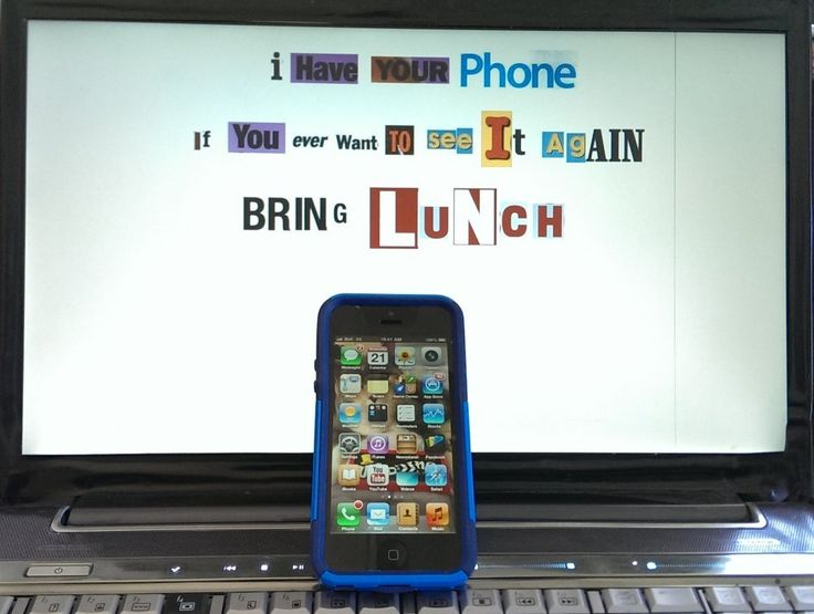 iPhone Ransom Note