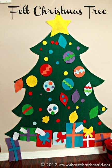 Felt Christmas Tree I want to make one if these for the kids to decorate and redecorate all season long.  Not sure if I will get to it this year, but maybe next year I will