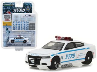 2017 Dodge Charger Pursuit Police New York Police Department NYPD with NYPD Squad Number Decal Sheet Hobby Exclusive 1/64 Diecast Model Car Greenlight 42821