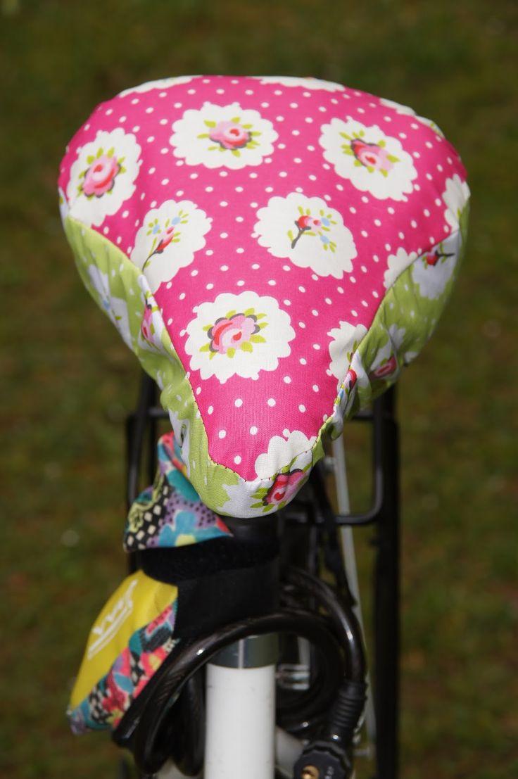 Glücksflügel: DIY: Nähanleitung für einen Sattel-Bezug für das Fahrrad