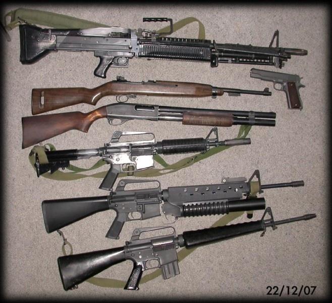 weapons used in vietnam
