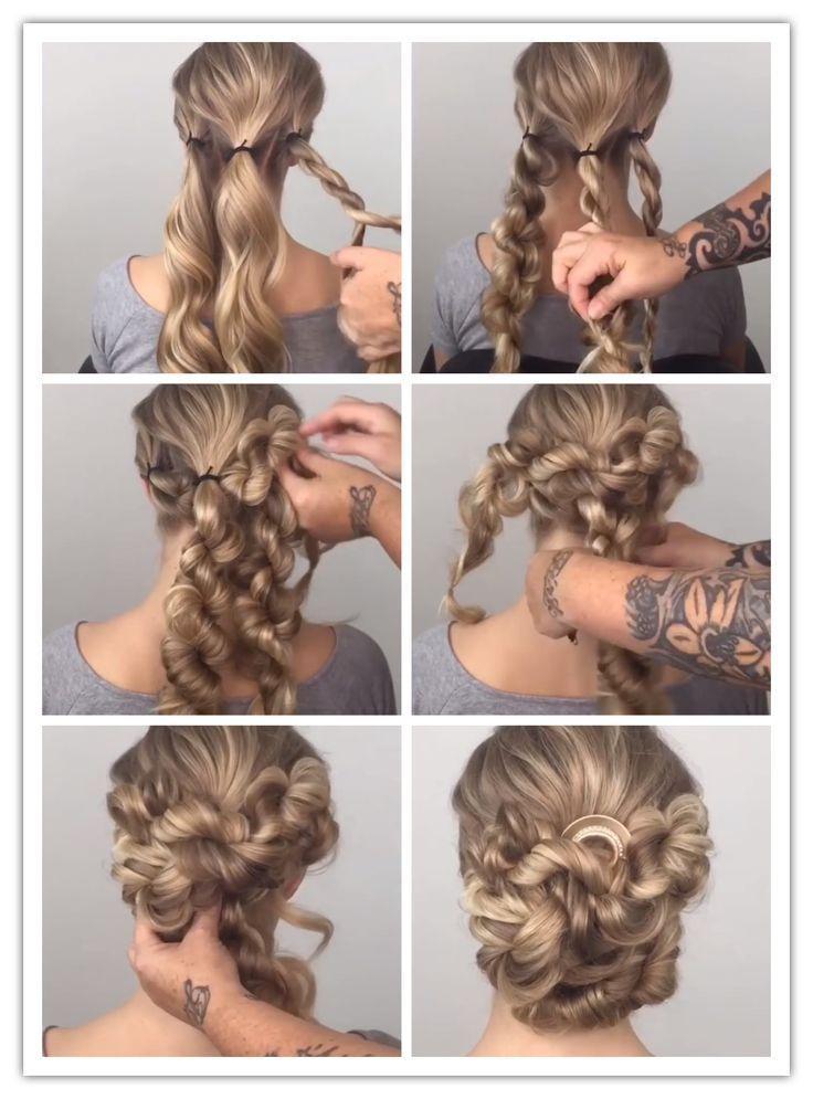 Brötchen mit gedrehten Zopf – Haarpflege