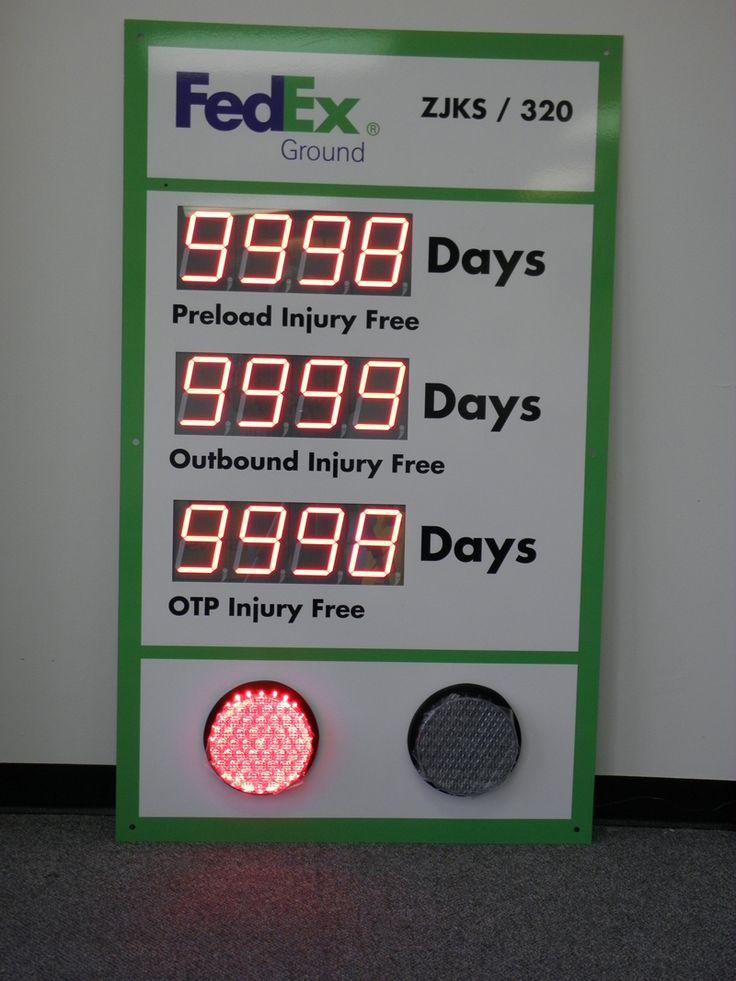 Custom Stoplight Safety Scoreboard with Three Large