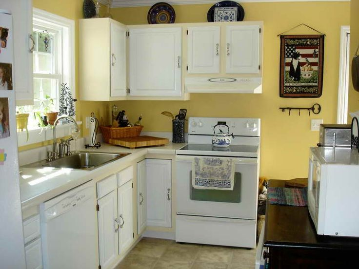 gallery for gt yellow kitchen white cabinets