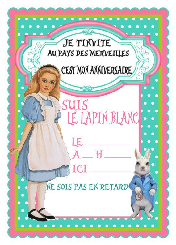 Alice In Wonderland Birthday Invites with great invitation template