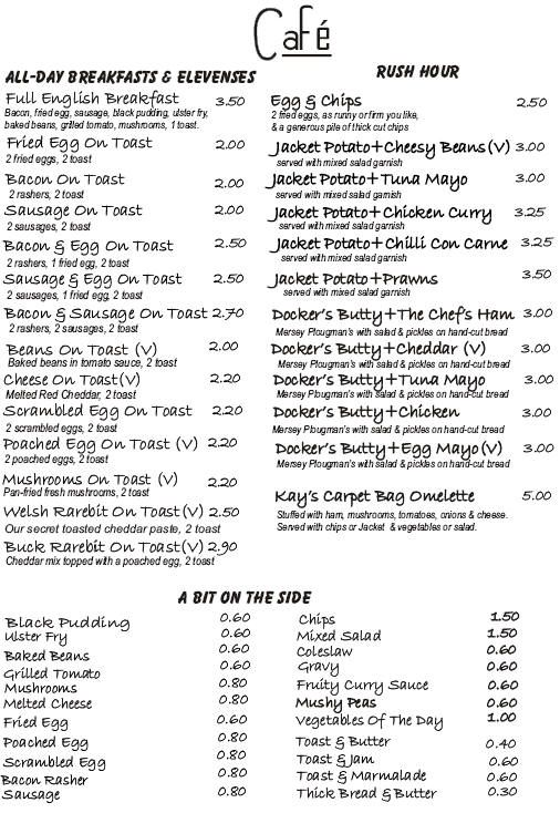 Permalink to Crave Cafe Menu
