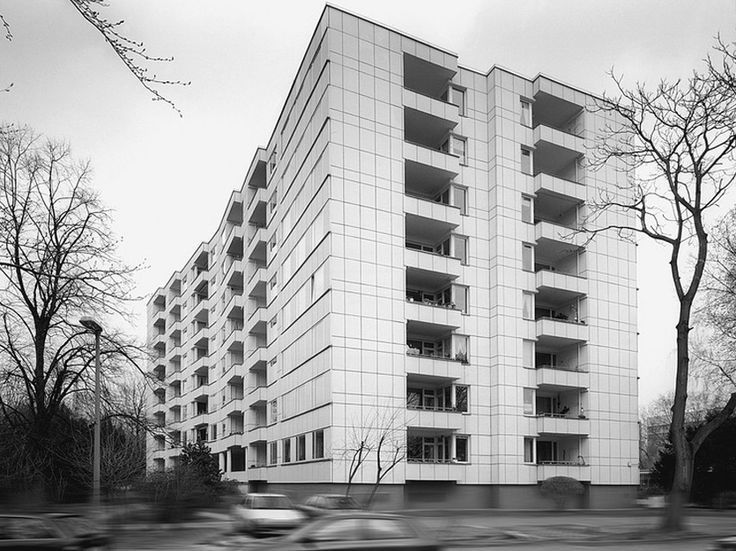 Hansaviertel Block of Flats, 1955-57, by Alvar Aalto, Berlin, Germany