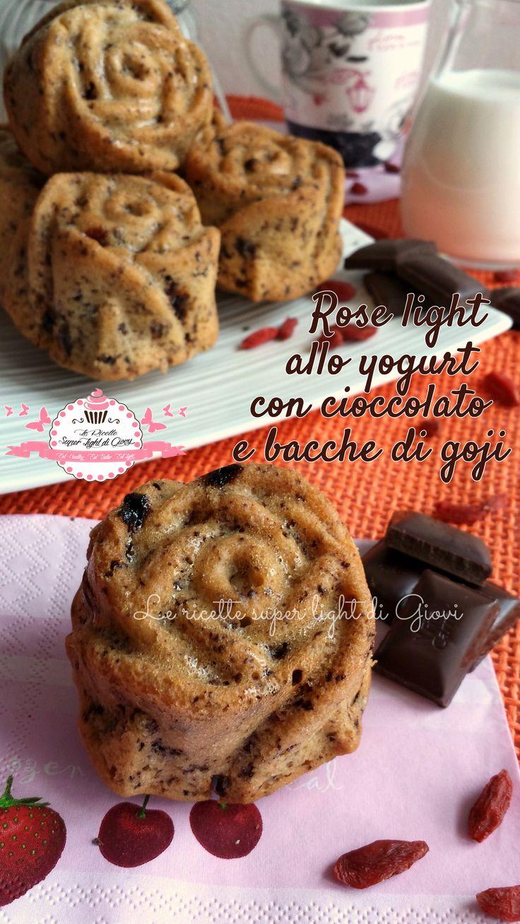 Rose light allo yogurt con cioccolato e bacche di goji (163 calorie l'una) | Le Ricette Super Light Di Giovi