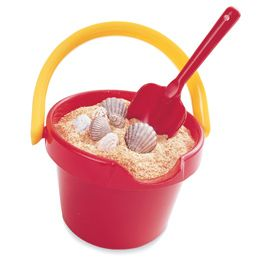 """Pail of Sand Cake- This novel cake, topped with crushed cookie """"sand,"""" will be the hit of any beach party. After your one-year-old eats it up, scrub the pail and let him fill it with real sand (no eating allowed)."""