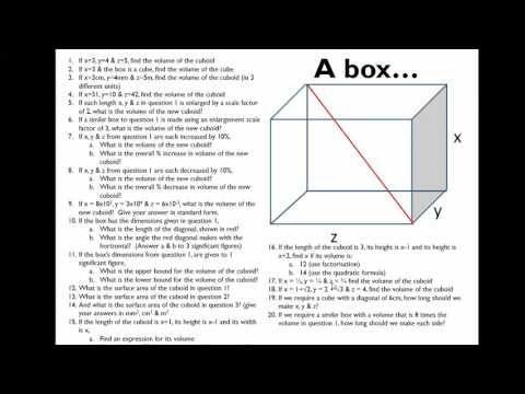 The Box: GCSE Higher Activity - TES Maths Resource of the Week 90 - Mr Barton Maths Blog