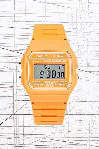 Casio Digital Watch in Orange #watch #covetme #casio