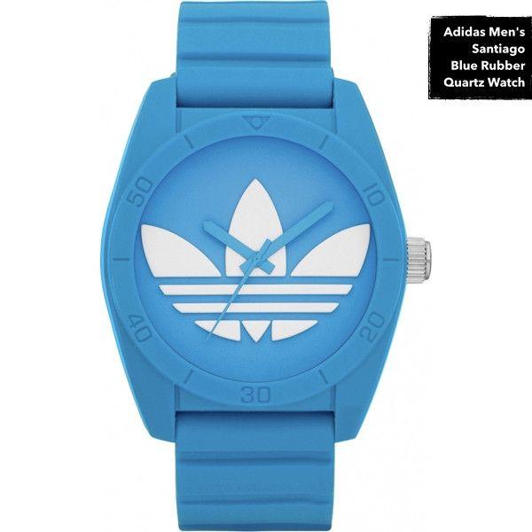 Men's Santiago Blue Rubber Quartz Watch