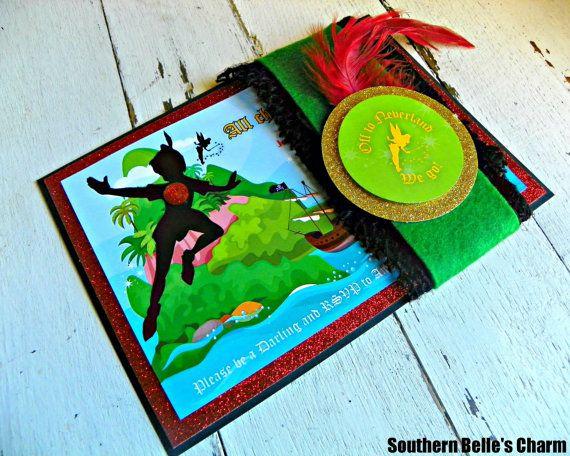 Neverland Invitations...Set of 10 Neverland Invitations on Etsy, $65.50