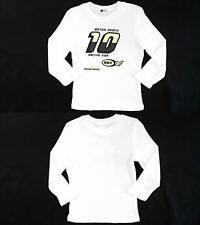 NEW Blanc Noir Racing USA Girls size M Cotton Shirt White Yellow Graphic DEALS