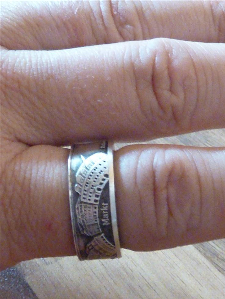 Ein herrlicher Silberring aus 999 Feinsilber mit den Naumburger Marktplatz am Finger.