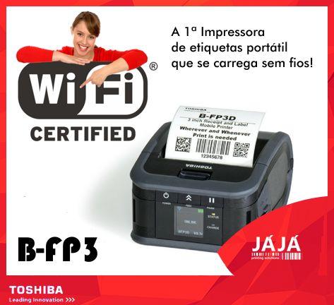 A nova gama de impressoras de etiquetas portáteis B-FP3 da JÁJÁ, está repleta de INOVAÇÕES❗  1ª impressora do mundo que se carrega sem qualquer fio!  Imprime etiquetas de 3 pulgadas à maior velocidade do mercado - 6 pulgadas por segundo. #etiquetas #impressoras #labels #labelprinters #barcodes #toshiba #TEC #JAJA
