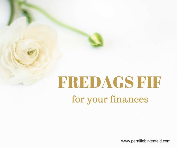 FREDAGS FIF for your finances Er du behandler og ofte har flere sessioner på en dag, kan det være fristende at lave en samlet bogføring?