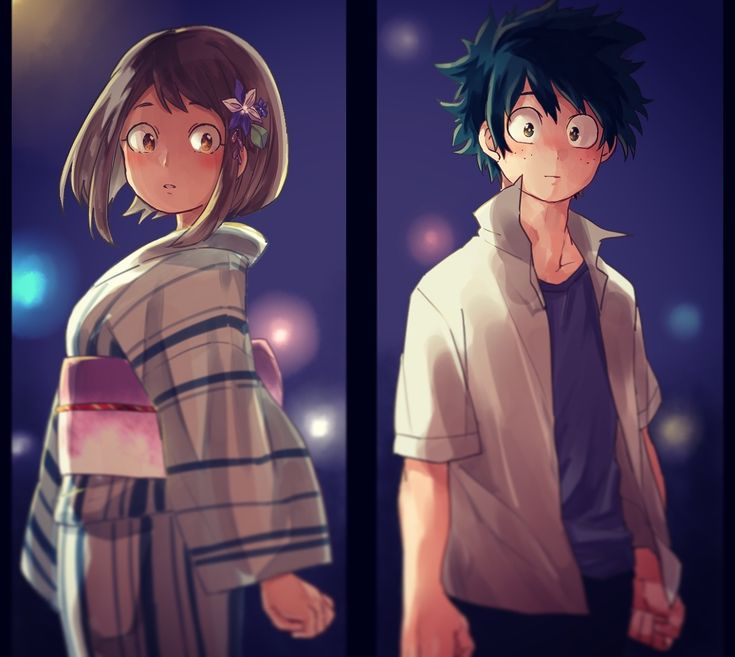 Uraraka and Deku - Boku no Hero Academia
