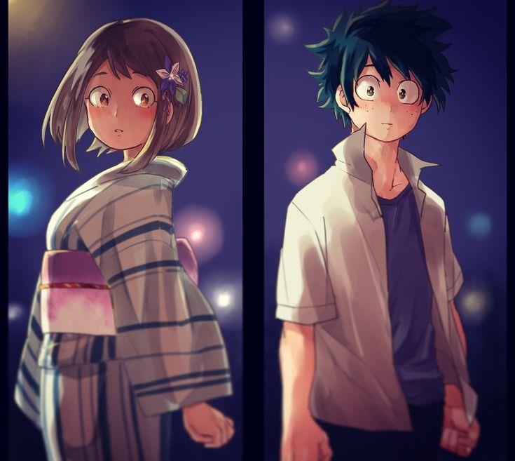 Uraraka and Deku - Boku no Hero Academia