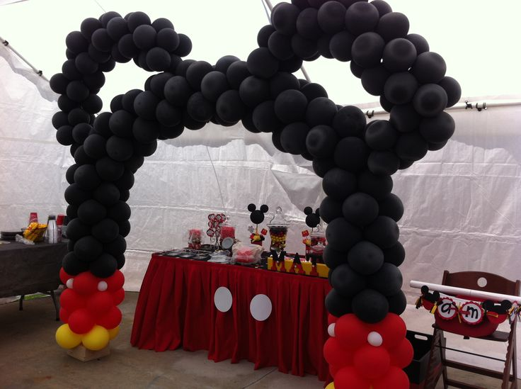 Balloon arch!! | Mickey Mouse Birthday party | Pinterest ...