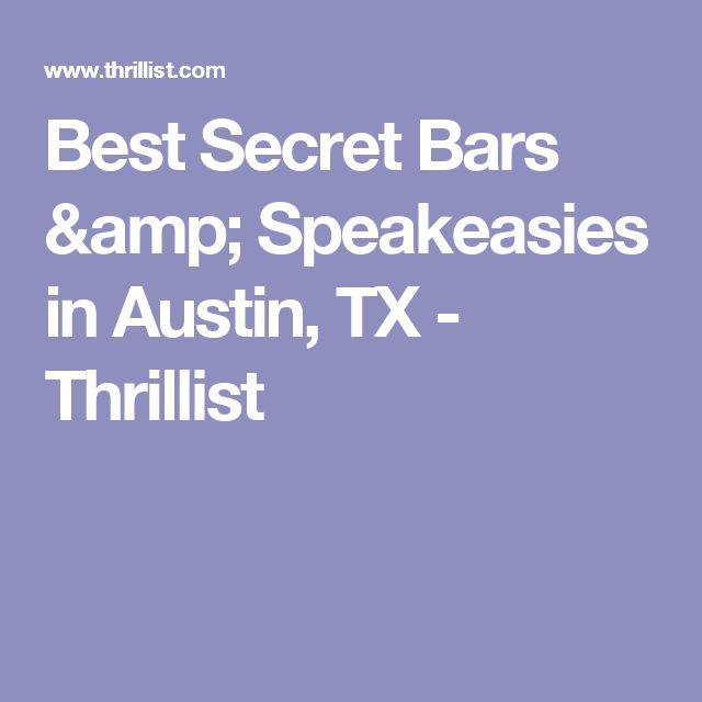Best Secret Bars & Speakeasies in Austin, TX - Thrillist