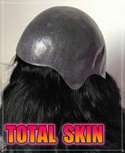 protesi capelli veri misura intera totale da donna effetto pelle molto naturale modello Total Skin by wubers