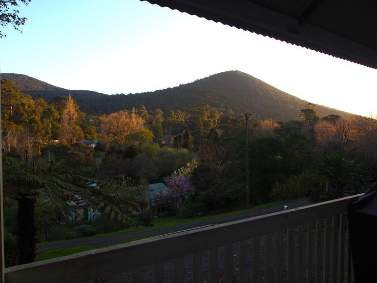 View from the balcony towards Mt Little Joe.