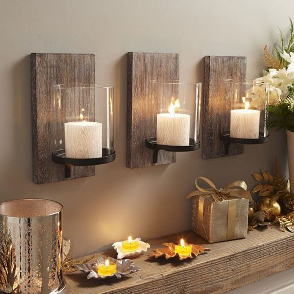 65 christmas home decor ideas wall candle - Candle Wall Decor