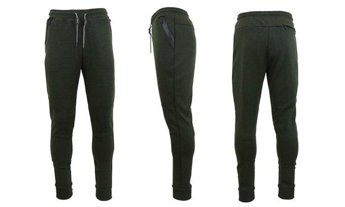 Galaxy by Harvic Tech Fleece Men's Slim Fit Joggers: Galaxy by Harvic Tech Fleece Men's Slim Fit Joggers