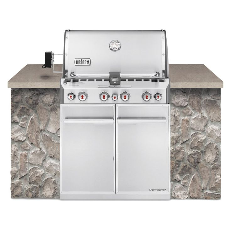 Weber Summit S-460 Built In Gas Grill - Natural Gas - Center your custom grill…
