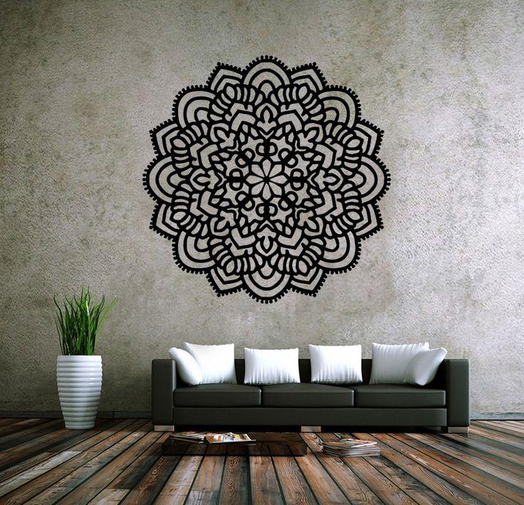 6011 mandala Om ornamento de Namaste Yoga decalque Menhdi flor padrão Om indiano sala de adesivos de parede em Papéis de parede de Em casa, Kitchen & Jardim no AliExpress.com | Alibaba Group