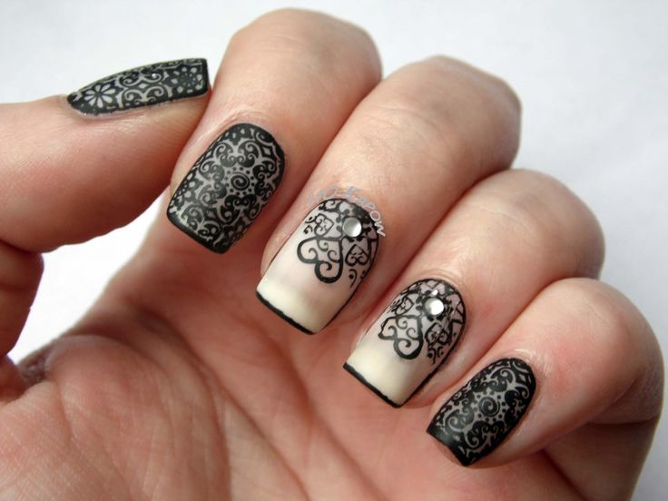 188 best lace nail art images on Pinterest | Lace nails, Lace nail ...