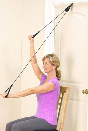 Nice Over The Door Upper Body Resistance Pulley System Exerciser. Gently Stretch  And Strengthen Your Upper Body At Home.