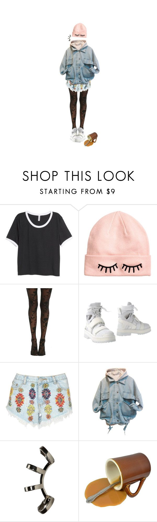 """""""you mean you really like me like that?"""" by aboutadaughter ❤ liked on Polyvore featuring H&M, Hello Kitty, Lipsy and Repossi"""