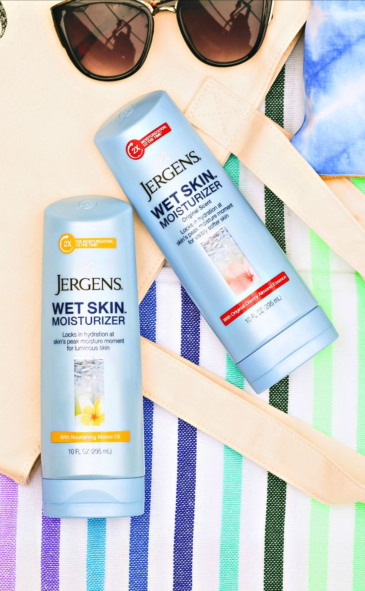 Jergens Wet Skin Moisturizer with Nourishing Monoi Oil and Cherry Almond Essence | Why You Should Be Using a Wet Skin Moisturizer #LockInSoftSkin #WetSkinIsBestSkin #Ad
