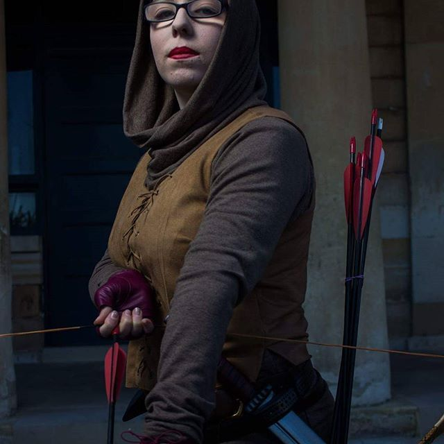 Flame at her finest !  Photo by mumei #archer #larp #larper #larpersofinstagram #larpcharacter #liveactionroleplay #elvesofinstagram #elves #elvinarcher #winterfest2016 #winterfest