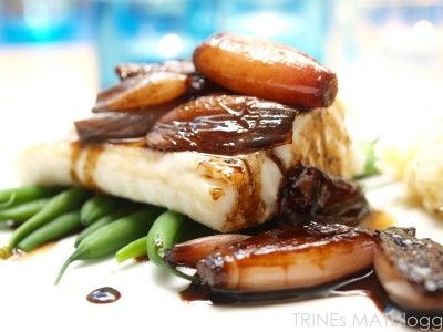 Ovnsbakt torsk med balsamicoløk og sellerirotmos - TRINEs MATBLOGG