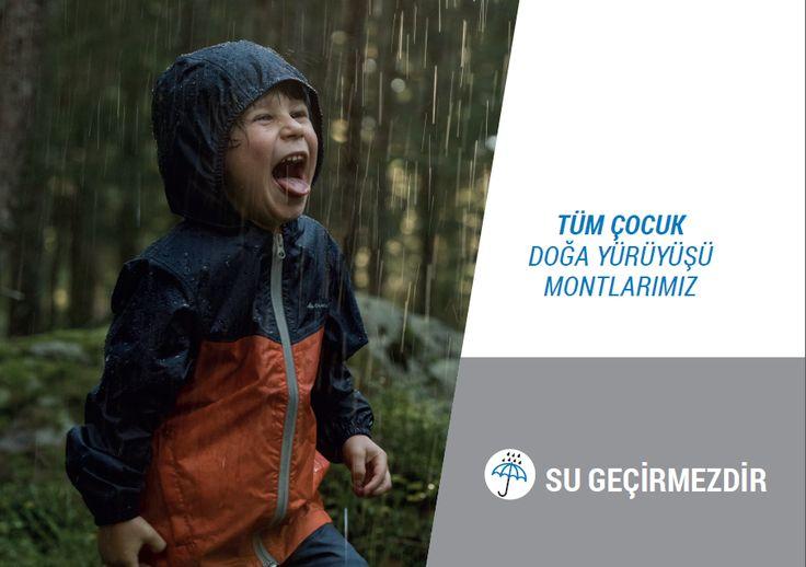 Yağmurdan kaçmayan ve oyuna durmaksızın devam eden çocuklar için Quechua yağmurlukları inceleyin! :)  #quechua #decathlon #sugeçirmez #waterproof #yağmurluk #raincut
