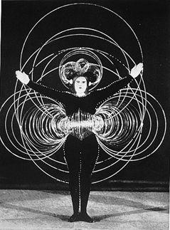 """""""Triadic Ballet"""" by Oscar Schlemmer, Bauhaus."""