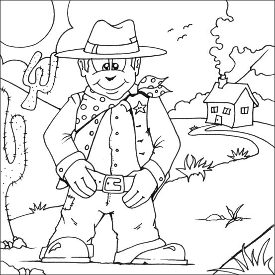 western coloring pages for kids - photo#9