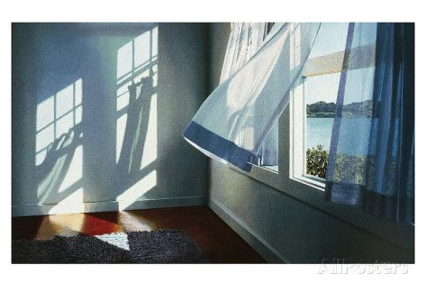 Summer Breeze Art by Alice Dalton Brown at AllPosters.com--Contemporary realist Alice Dalton Brown's airy 'through the window' views and sun-dappled porch settings are masterfully detailed with strong graphic compositions.