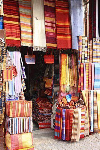 Carpet shop, Marrakech, Morocco, North Africa, Africa