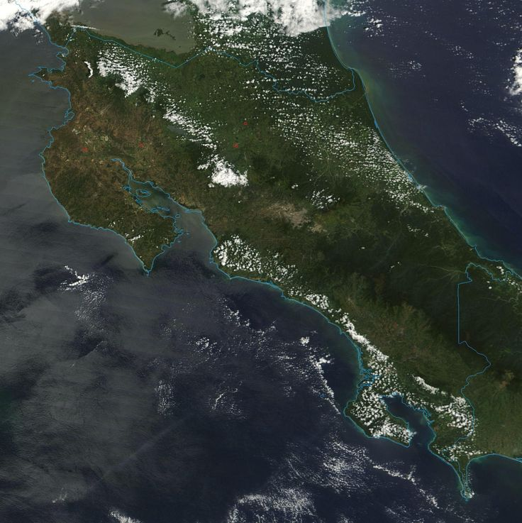 Cool Satellite photo of Costa Rica