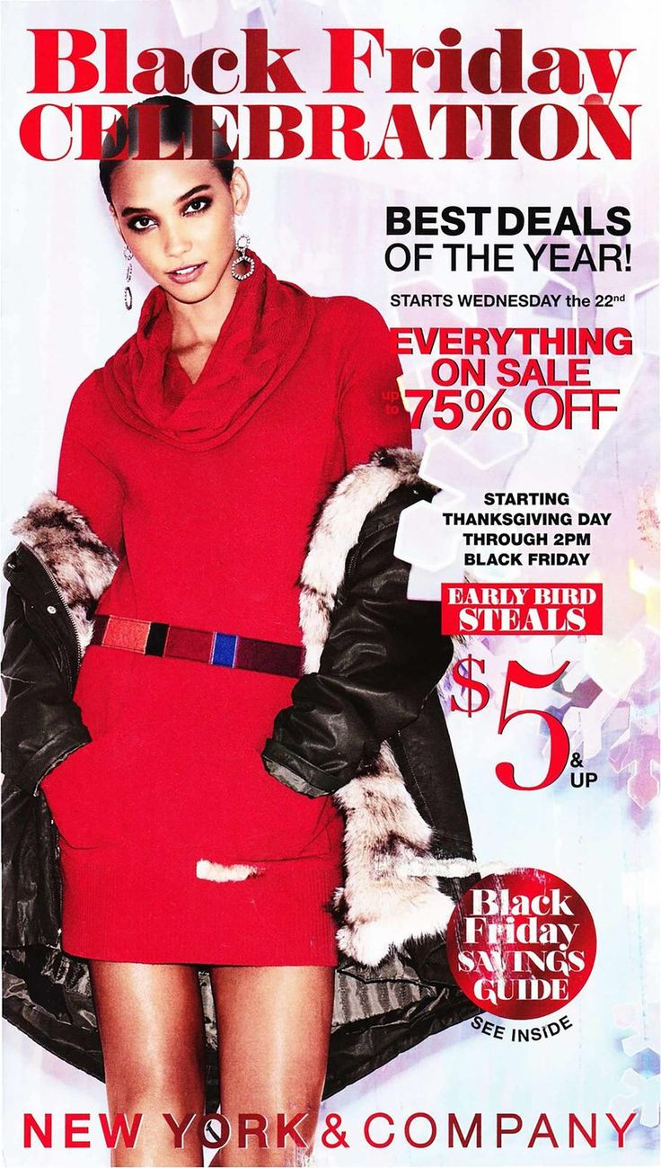 New York & Company Black Friday 2017 Ad Scan Deals and Sales #coupons  New York & Companys 2017 Black Friday ad is here! Starting on Wednesday November 22nd you can get up to 75% off everything in-store and online. On Thanksgiving at 5PM until 2PM on Black Friday shop the Early Bird Steals!  The post New York & Company Black Friday 2017 Ad Scan Deals and Sales appeared first on SheffaSaving.com.