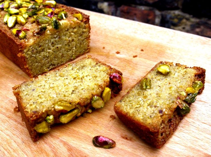 pistachio lemon loaf cake