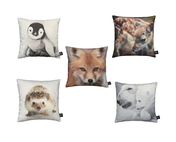 baby animal cushions from by nord