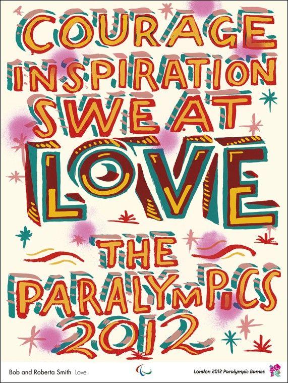 Original+poster+Paralympic+games+London+2012+Love+-+Bob+and+Roberta+SMITH