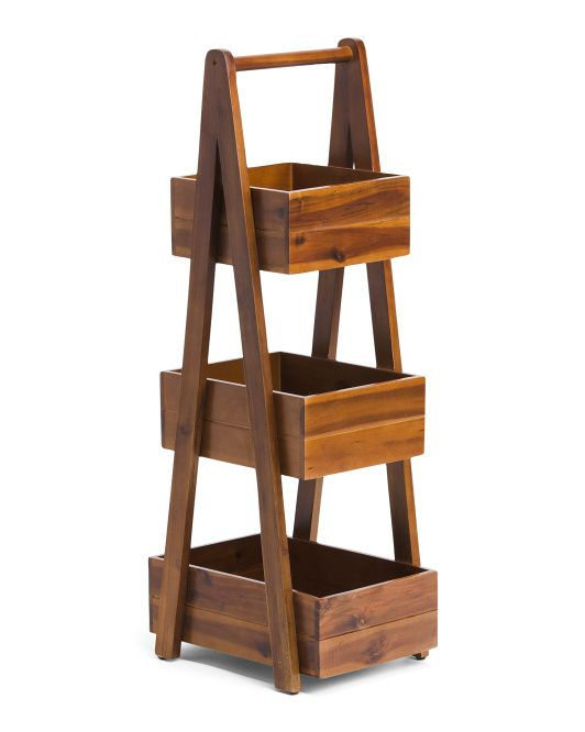 3 Tier Acacia Wood Bath Caddy - Bath - T.J.Maxx in 2020 ...