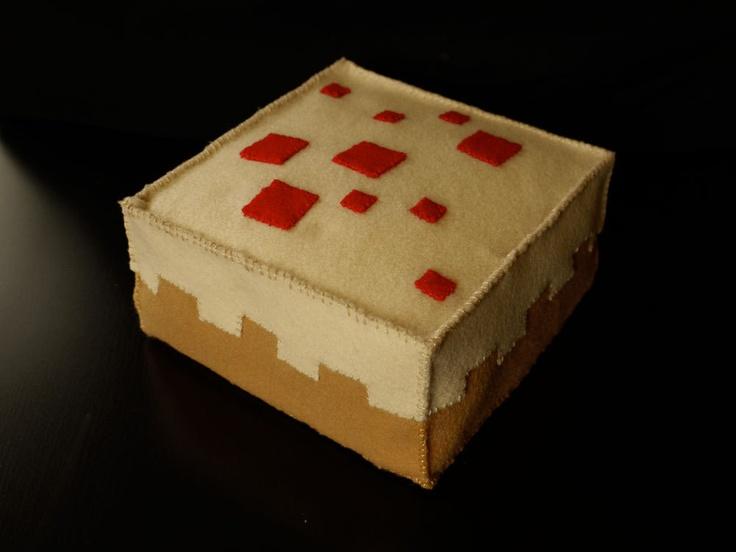 Minecraft Cake Plush. $45.00, via Etsy.