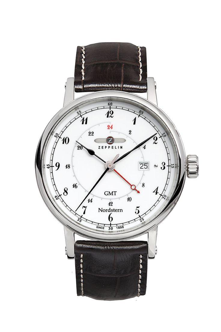 Zeppelin GMT-Uhr Nr. 7546-1 mit Gravur. Für ein individuelles Geschenk zu jedem Anlass. Wir gravieren Texte, Grafiken und Logos. Hier bestellen!